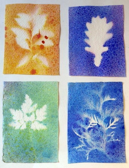 watercolour-sprays-with-leaf-masks