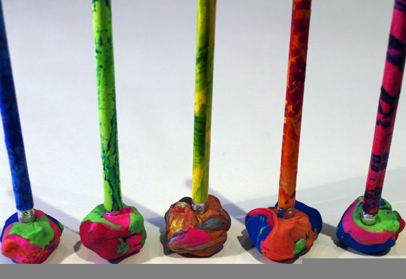 pencils-in-plasticine
