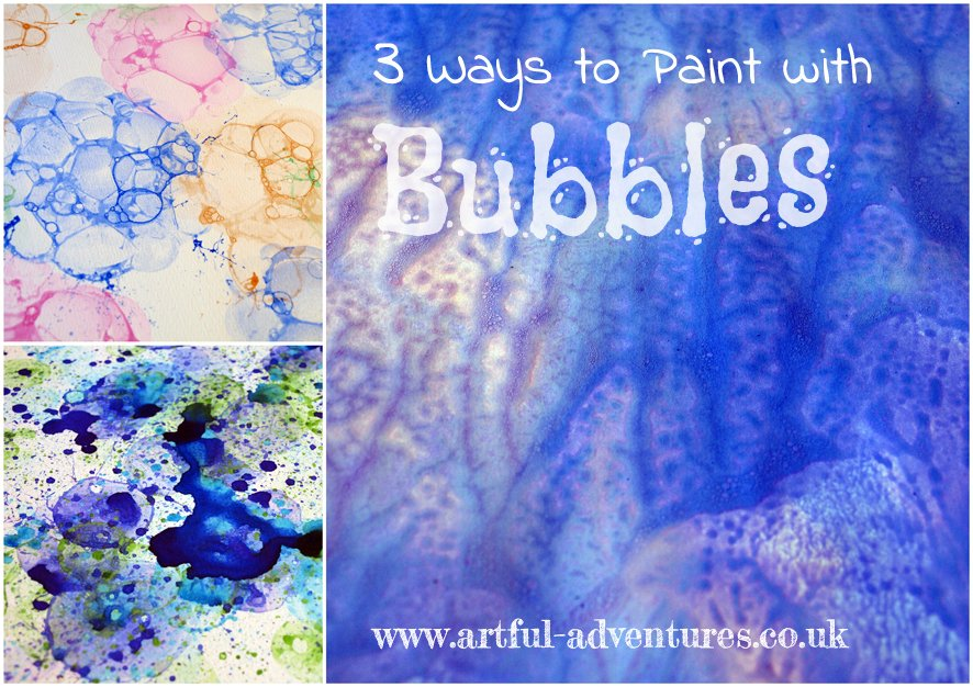 bubble-paint-collage