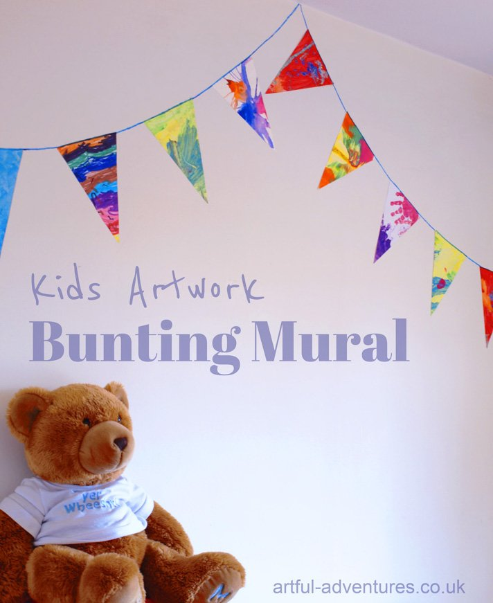 kids-artwork-bunting-mural