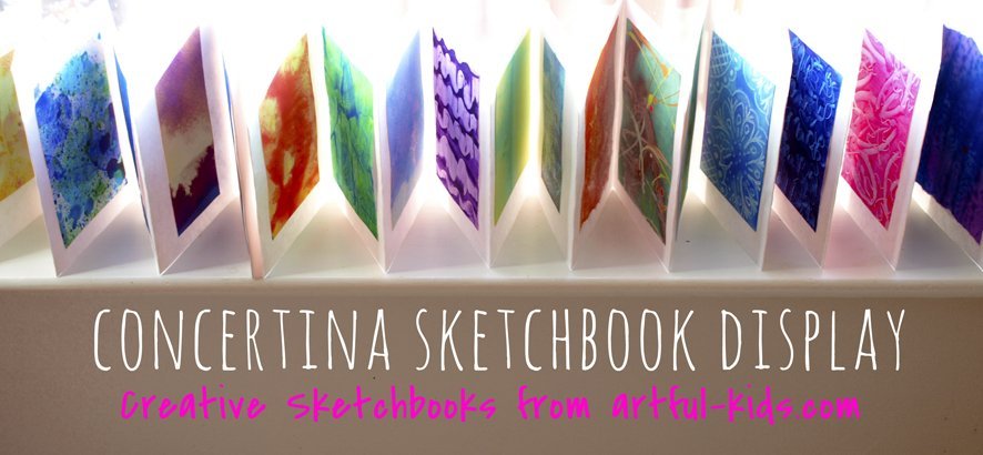 concertina-sketch-book-display