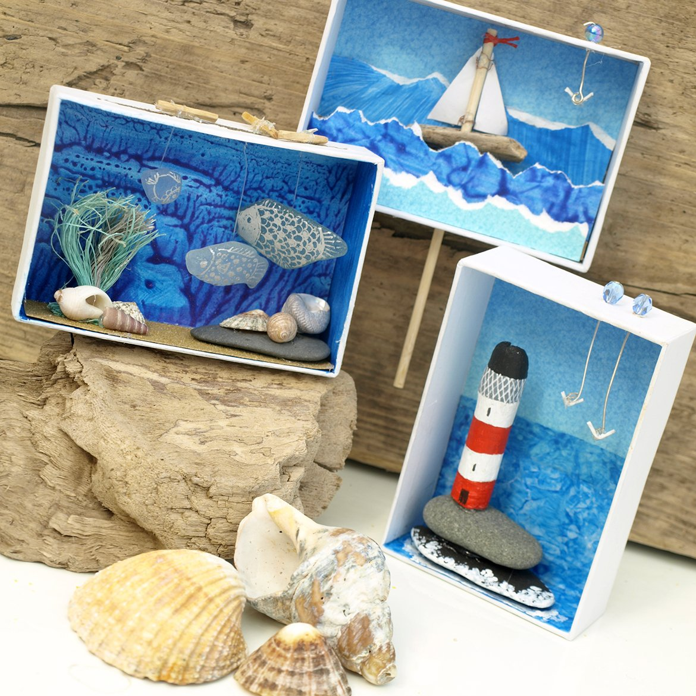 Kids Diorama With Details: Mini Seaside Dioramas