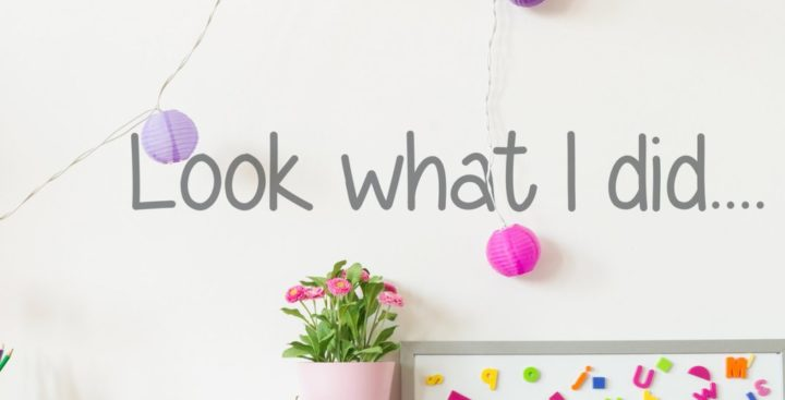 'Look What I Did' Wall Sticker