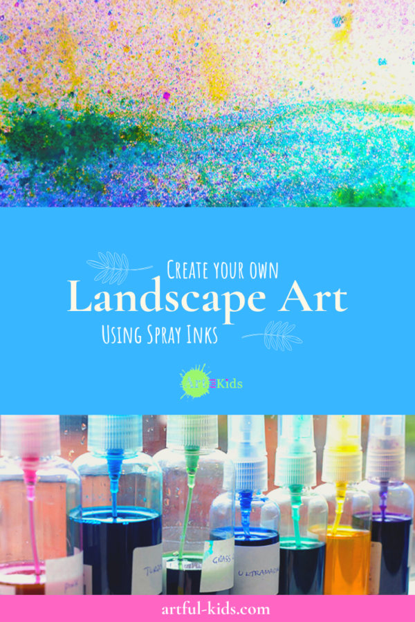 How to create your own Landscape Art with Spray Inks